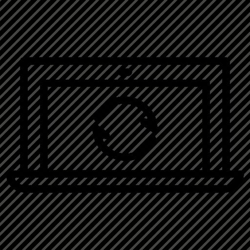 laptop, refresh icon