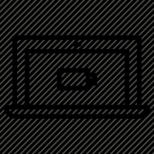 battery, empty, laptop icon