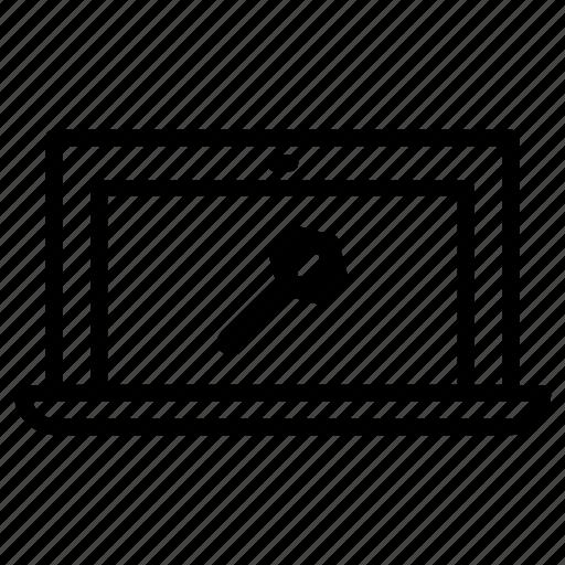 laptop, repair icon