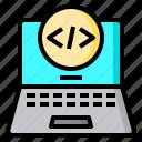 code, computer, data, laptop, program