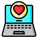 computer, heart, laptop, love, sweetheart