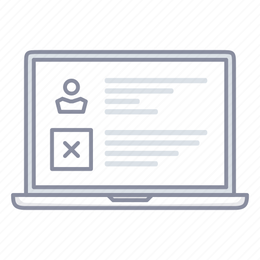 content, laptop, notebook, profile, text, ui, user icon