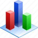 3d, bar, chart, city, diagram, graph, pie, plot, popularity, schedule, statistics, stock, timetable icon