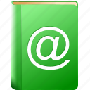 address book, contacts, mail list, mass list, notebook, pocketbook, record icon