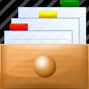 box, card, data, database, documents, file, storage
