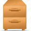 bureau, card, case, chest of drawers, index, kit, locker icon