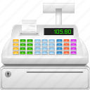 buy, cash, cashbox, cashregister, coinbox, commerce, ecommerce, machine, money, moneybox, online, price, recording, register, sales, sell, seller, shop, shopping, till, webshop icon