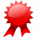 award, bonus, bounty, cert, certificate, gnome, mime, premium, prize, purse, seal, secured icon
