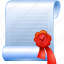 cert, certification, deed, document, instrument, paper, record, roll, scroll, verification, writing icon