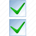 accept, check boxes, form, ok, select, test, yes icon