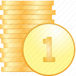 cash, coin, coinage, coins, columns, currency, dollar, dollars, dough, gold, money, pile, specie icon