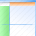 array, blade, chart, database, datasheet, folio, leaf, map, plate, sheet, spreadsheet, table icon