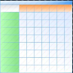 array, blade, chart, database, datasheet, folio, leaf, map, plate, sheet, spreadsheet, table icon