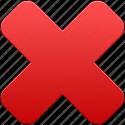 close, delete, exit, remove, trash icon