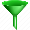 filter, funnel, filters, stock, chute, filler, strainer icon