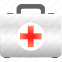 aid, bag, baggage, case, cure, doctor, f1, first, first aid, go, health, healthcare, help, hospital, kit, med, medical kit, medicine, medicine bag, medkit, nurse, red cross, repair, support icon