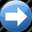 arrow, direction, move, next, pointer, right, tomorrow icon