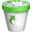 delete, dustbin, full trashcan, recycle bin, remove, rubbish basket, trash can icon