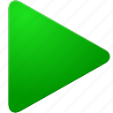 arrow, begin, exe, execute, forward, go, green, next, play, right, run, start, triangle, up icon