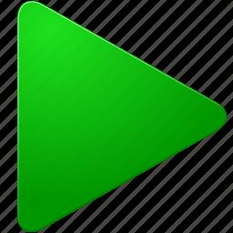 arrow, begin, exe, execute, forward, go, green, next, play, right, run, start, triangle, up icon