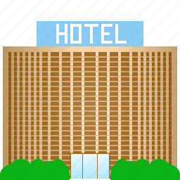 apartments, hotel building, motel, rooms, tourism, travel, vacation icon