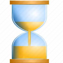 glass, hourglass, loading, sandglass, time, wait icon