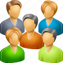 crowd, folk, group, herd, huddle, humanity, large, men, mob, nation, people, public, race, swarm, throng, users icon