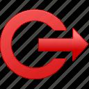 account, admission, entrance, entry, escape, exit, inlet, login, logout, out, outlet, output icon