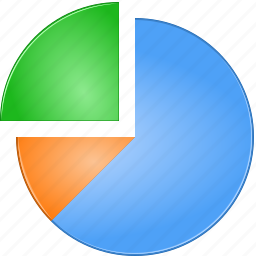 chart, diagram, fraction, graph, part, percentage, pie, pie-chart, piechart, plot, portion, proportion, report, reports, schedule, share, statistics, stock, timetable icon