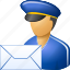 deliver, delivery, email, envelope, letter, post office, postman icon