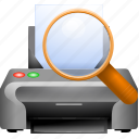 document, print preview, printer, printing, publish, view, zoom icon