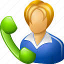 live chat, girl, lady, help, female, phone, message, bubble, talk, operator, blower, telephonist, support, woman, receptionist, speech, call, telephone