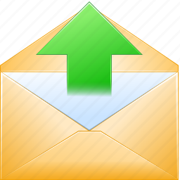communication, email, envelope, letter, message, post, send mail icon