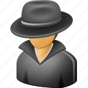 agent, cagey, cia, close, css, fbi, hidden, hide, human, lover, male, man, men in black, nsa, profile, reserved, reticent, secret, secretive, security, spy, undercover, user, webroot icon