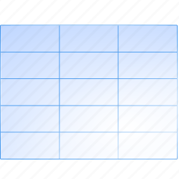 data, excel, grid, rows, sheet, spreadsheet, table icon