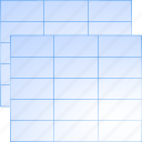 chart, data, document, menu, plan, schedule, tables icon