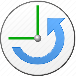 clock, history, revert, roll back, schedule, time machine, undo icon