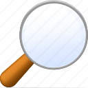 bull's-eye, find, glass, loupe, magnifier, magnifying, magnifying glass, reading-glass, search, zoom icon