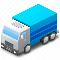blue, button, deliver, delivery, lorry, transport, transportation, van icon