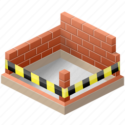build, building, construct, construction, home, house, wall, walls icon