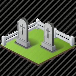 cemetery, cemetry, dead, death, grave, graveyard, horror, skull, spirit icon