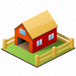 farm, home, house, organic, produce, school, teacher, village icon