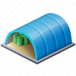 barracks, fashion, garage, garbage, hangar, hanger, house, shipment, storage, warehouse icon