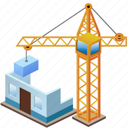 build, building, buildings, crane, home, house, industry, simple icon