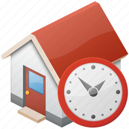auction, background, banking, cash, clock, credit, debt, home, house, lease, loan, money, mortgage, own, payment, personal, property, rent, temporary, time, wait, white icon
