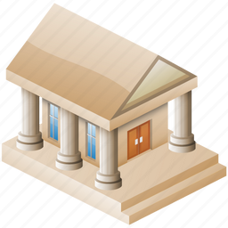 classic, columns, greek, historical, history, library, museum, old, pillars, simple icon