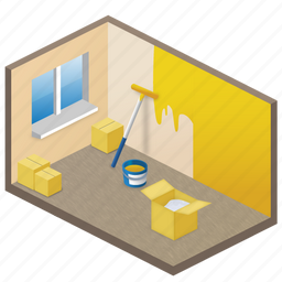 apartment, app, inside, interface, lease, rent, room, sofa, studio, window icon