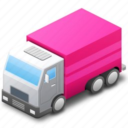 base, deliver, delivery, map, marker, pink, traffic, transport, transportation, travel, van icon