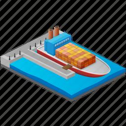 bay, boat, harbor, harbour, haven, marina, marine, nautical, ocean, port, sail, sailing, sea, sea port, sea-port, seaport, ship, shipping, ships, transport, transportation, travel, water icon