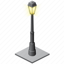 bulb, electic, electric, fire, lamp, light, street, streetlight, torch icon